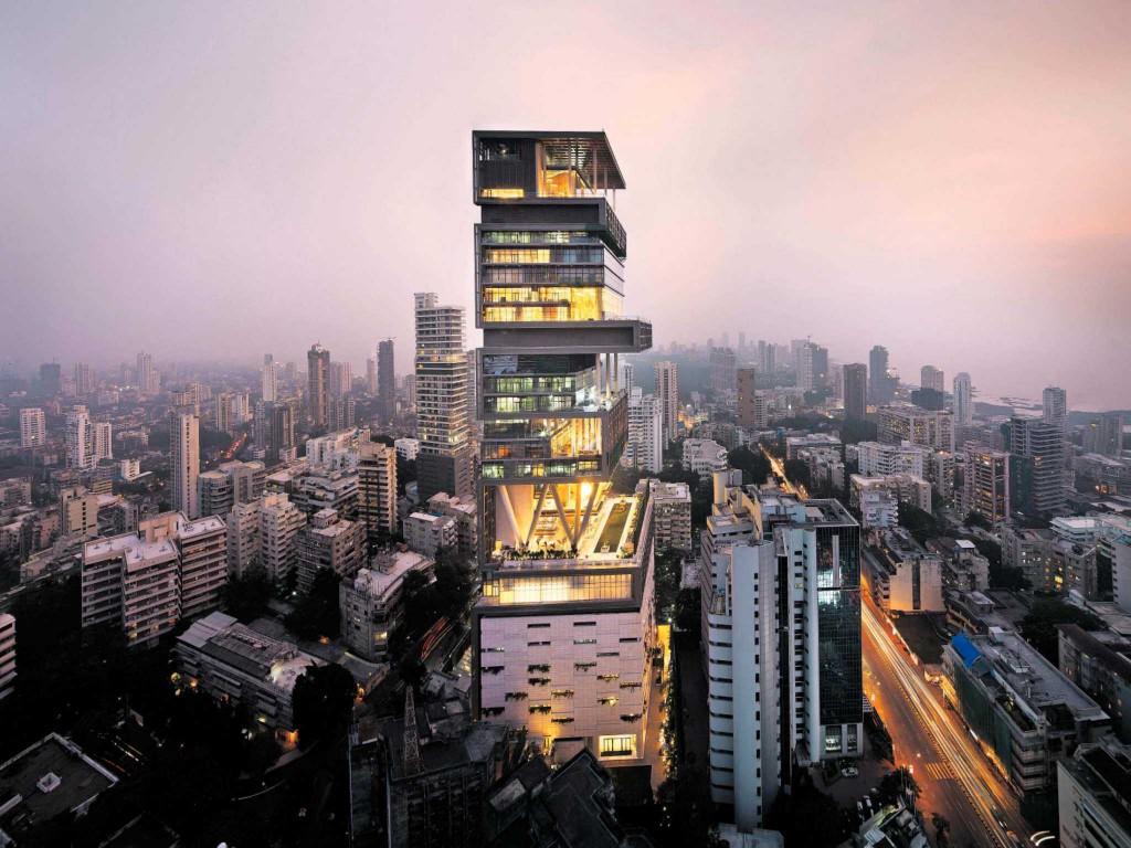 Antilia, Mumbaj, Indija – 1 milijarda ameriških dolarjev