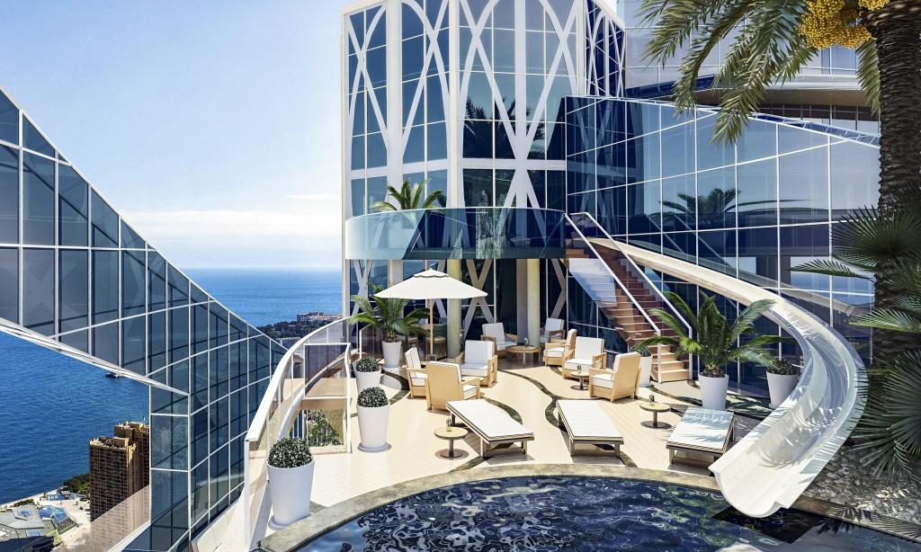 Penthouse v Tour Odéon, Monako – 400 milijonov ameriških dolarjev