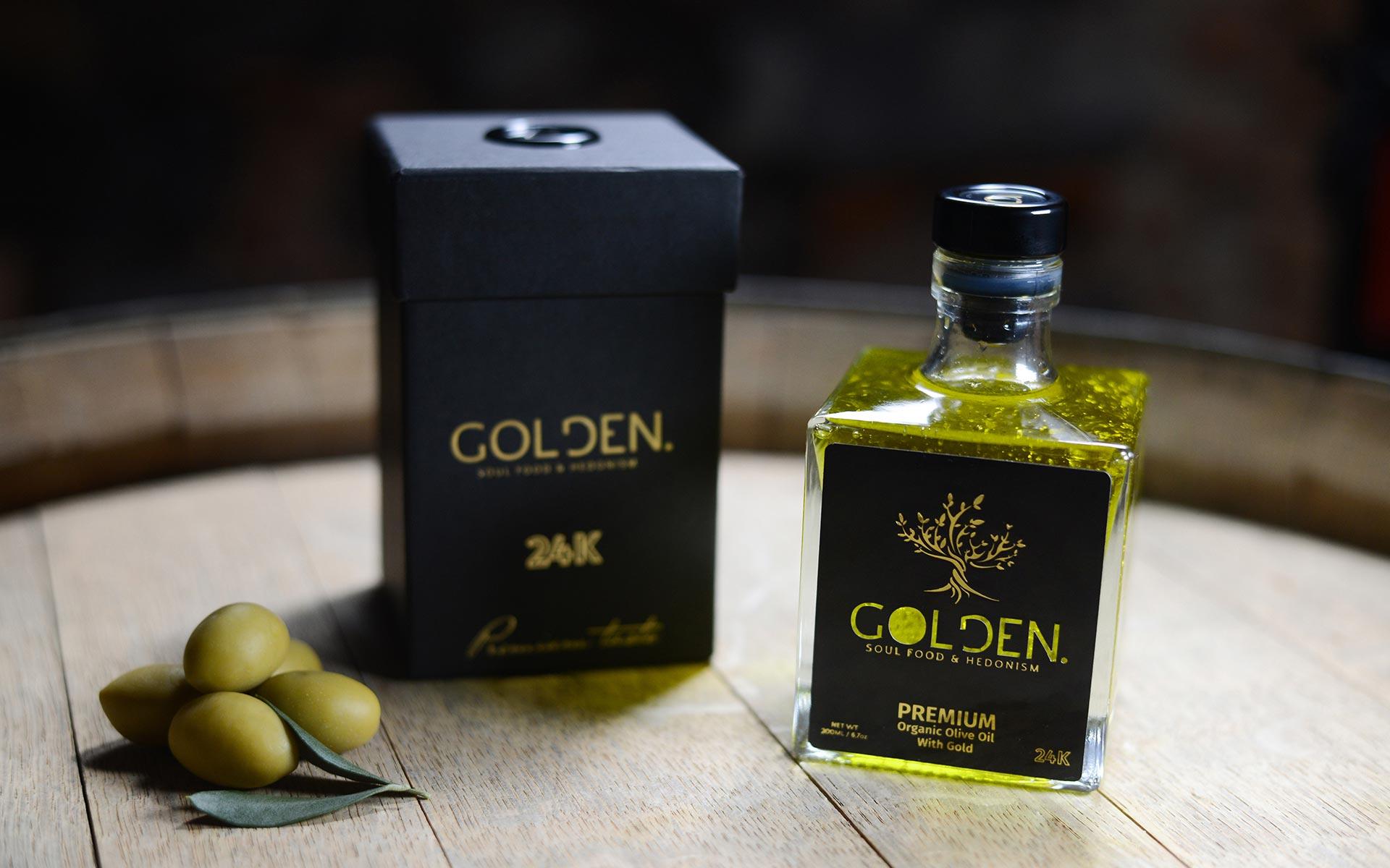 Olivno olje z zlatimi lističi lahko kupite ali ga dobite postreženega v eni izmed petih slovenskih restavracij. Kasneje pa boste lahko nanj naleteli tudi v tujini.