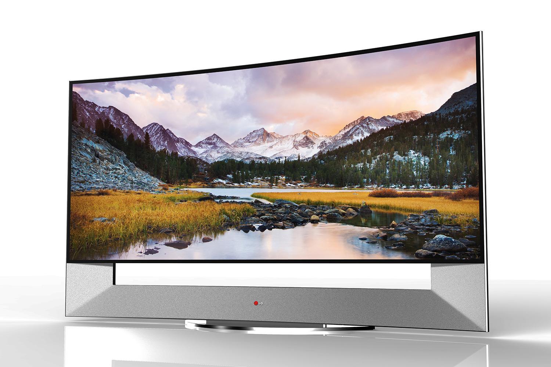 """Luksuzna božična darila: ametna televizija z velikim zaslonom (LG 105"""" Class (104.6"""" Diagonal) UHD 4K Smart 3D Curved LED TV w/ webOS™)"""