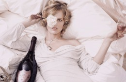 Eva Herzigova for Dom Perignon Rose Ad Campaign by Karl Lagerfeld photoshoot