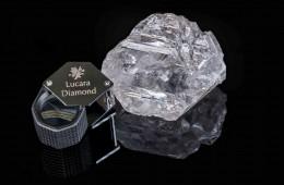 Več kot tisoč karatni diamant v velikosti teniške žogice