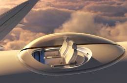 SkyDeck: steklena kabina na vrhu letala.