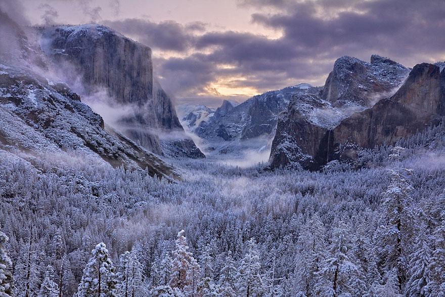 Najlepše fotografije zime in zimskih pokrajin.