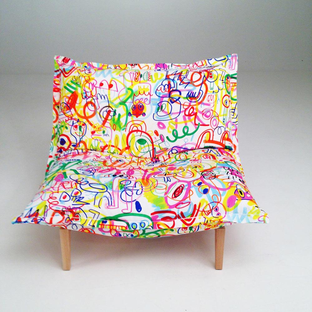 Dizajnersko pohištvo Kirkby x Jon Burgerman x Ligne Roset.