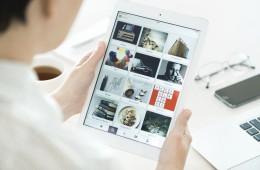 Pinterest boards on Apple iPad Air