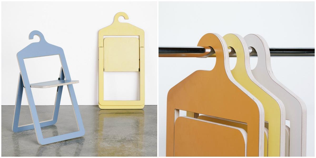 Zložljivi stoli, ki jih lahko obesimo v omaro