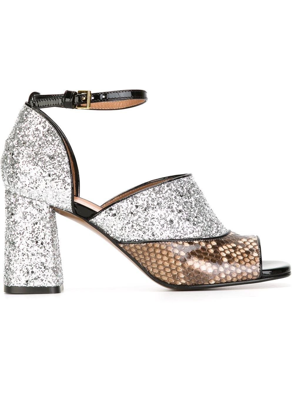 Domiselni salonarji, odprti pri prstih (Marni Chunky Heel Sandals, 630€, farfetch.com)