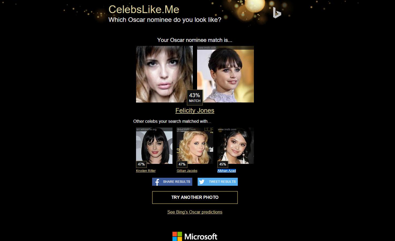 Spletna stran CelebsLike.me poišče zvezdniškega dvojnika oz. dvojnico.