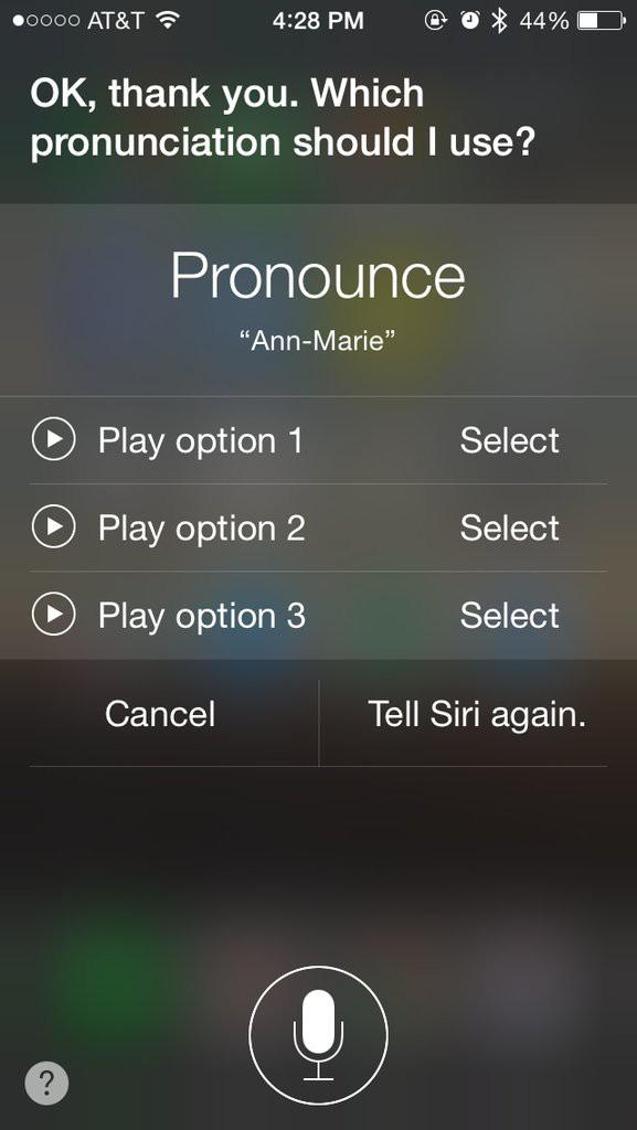 Naučite Siri pravilnega naglaševanja