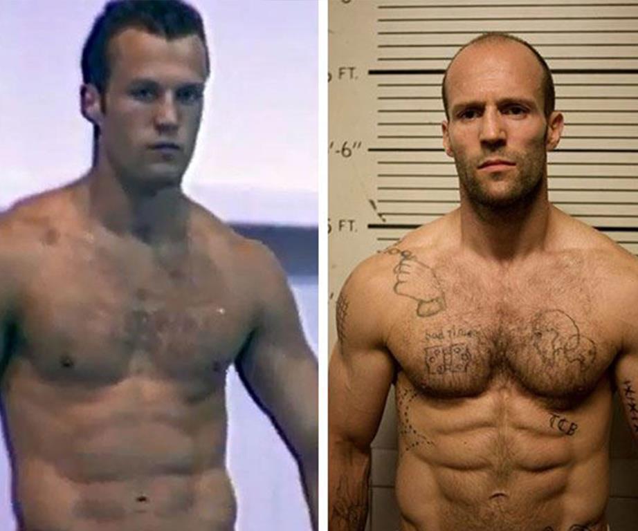 Jason Statham včasih in danes