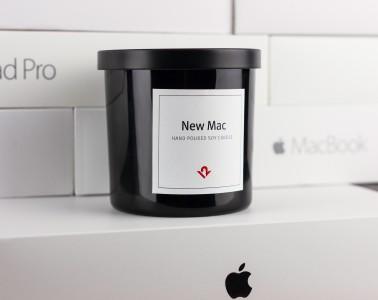 New Mac - sveča z vonjem po novem Macu.
