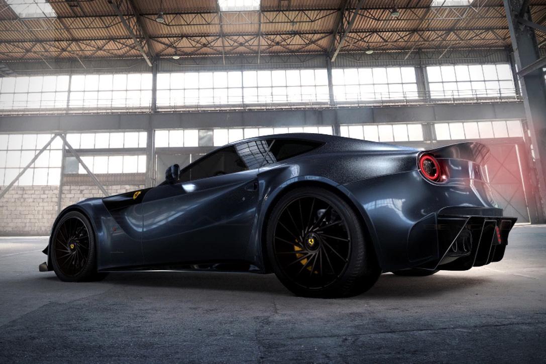 Predelan Ferrari F12 Berlinetta je še bolj agresiven kot prvotno.