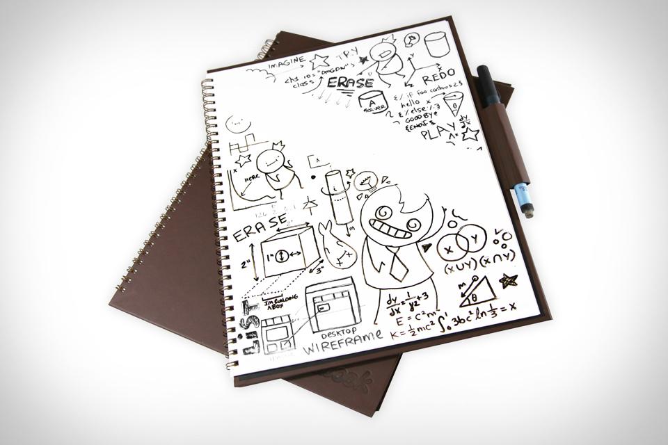 V rokovnik Wipebook pro lahko svoje ideje zapišete in izbrišete kolikorkrat želite.