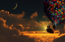 603392-artwork-balloons-clouds-digital-art-houses-moon-pixar-sunset-up-movie