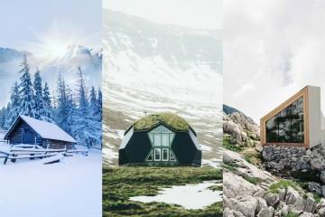 Čudovite koče, v katerih bi z veseljem preživeli zimo
