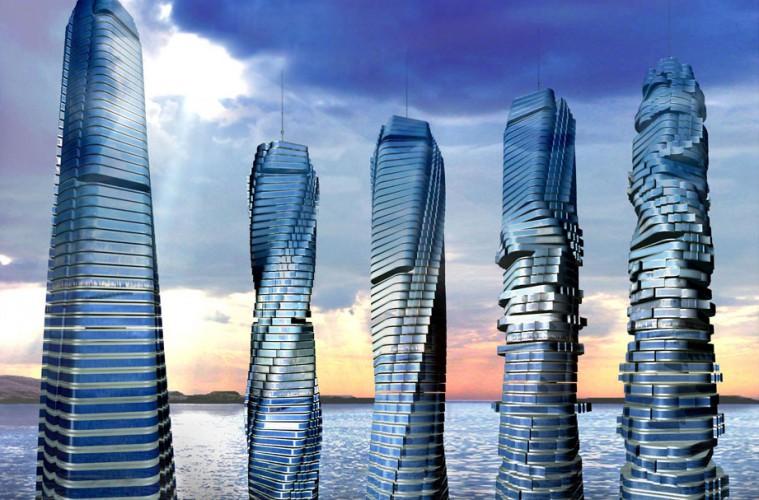 Vrtljivi nebotičnik Dynamic Tower