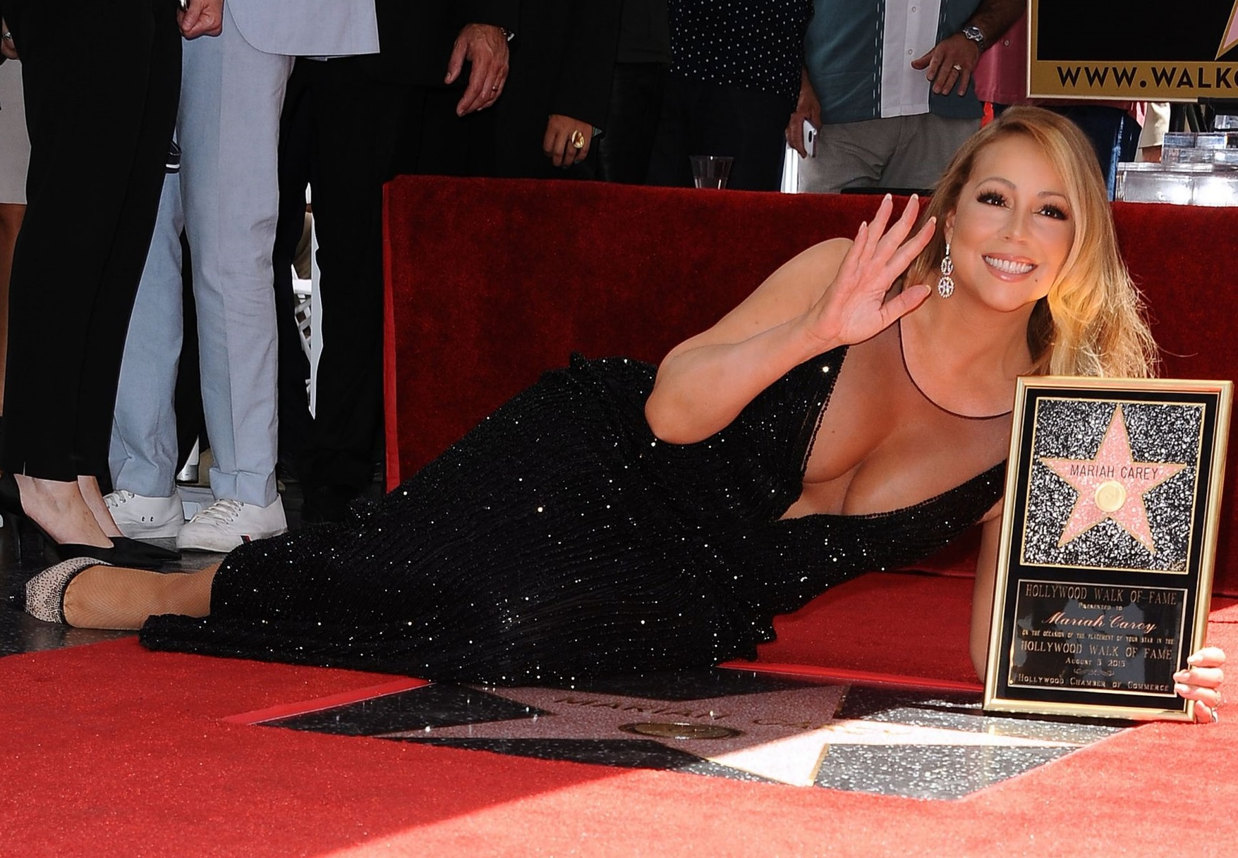 Singer-Mariah-Carey-is-honored-with-Star-on-The-Hollywood-Walk-of-Fame