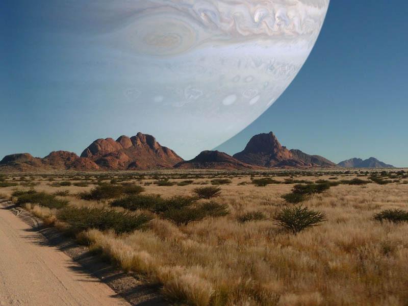 Če bi bil Jupiter enako blizu kot Luna ...