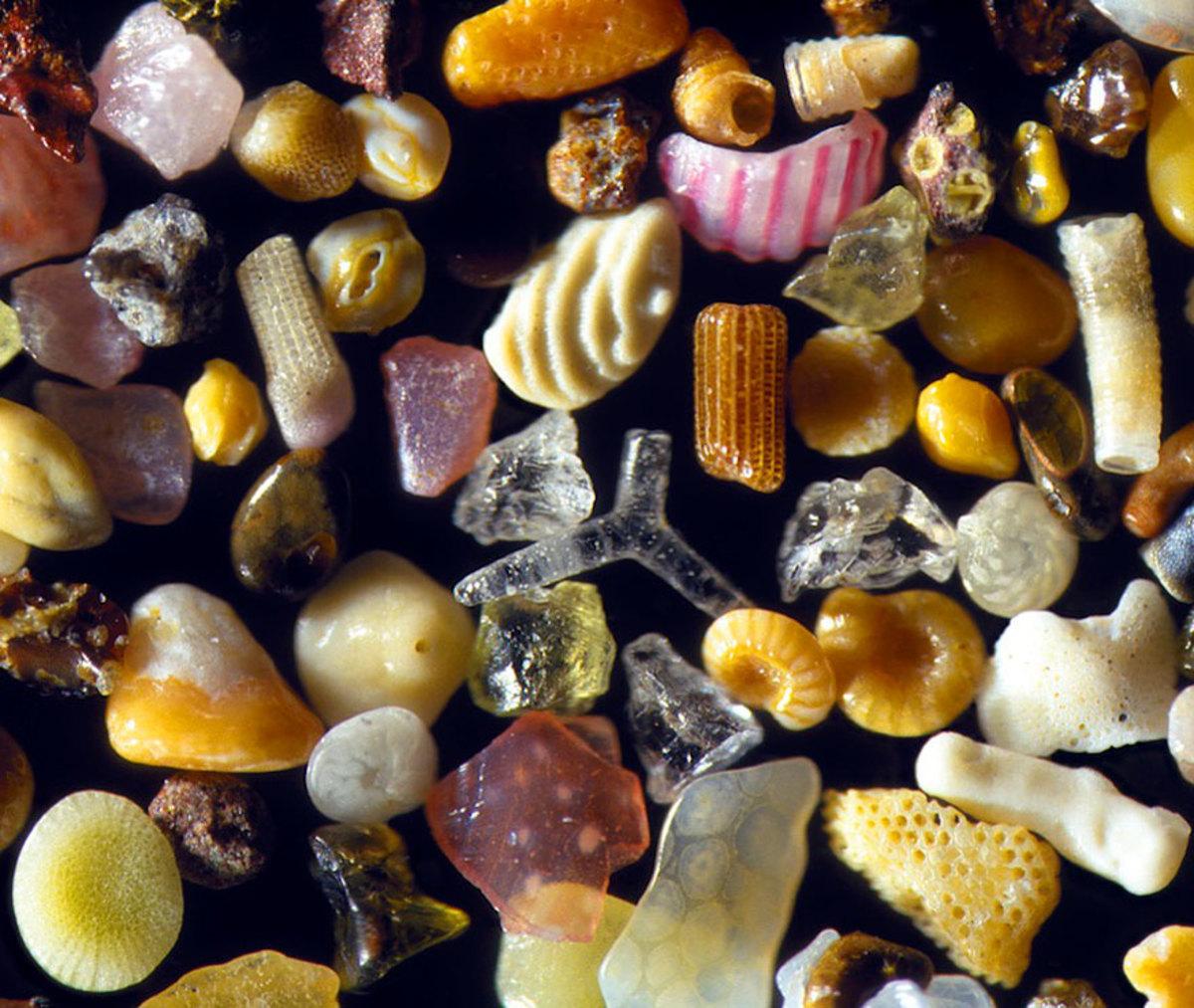 Pesek pod mikroskopom