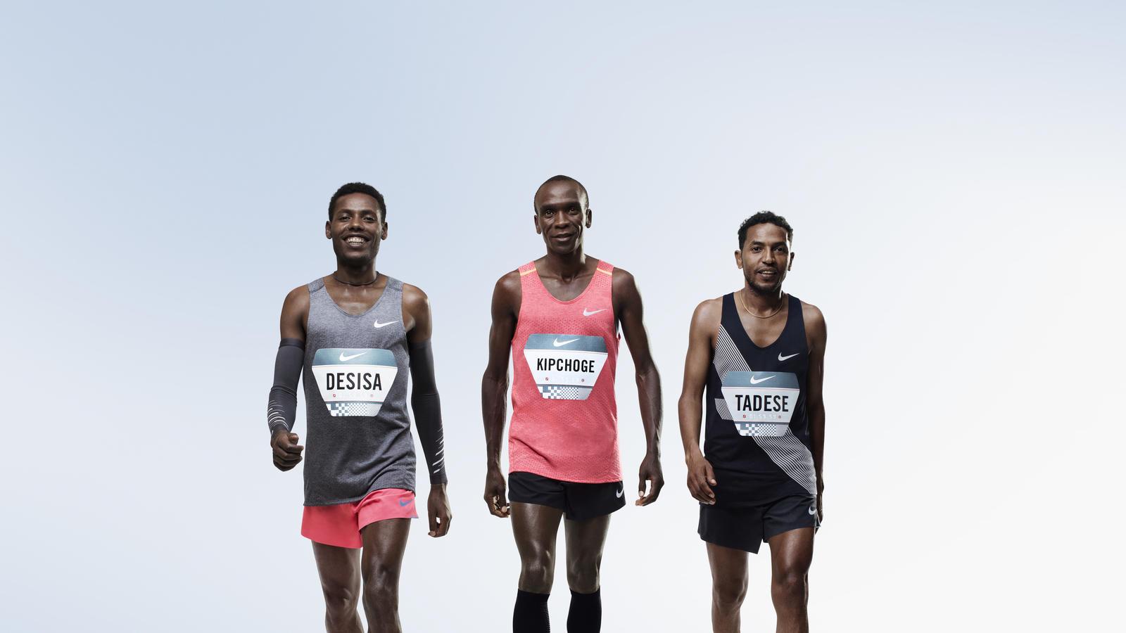 Trije atleti, ki sodelujejo v projektu Breaking2.