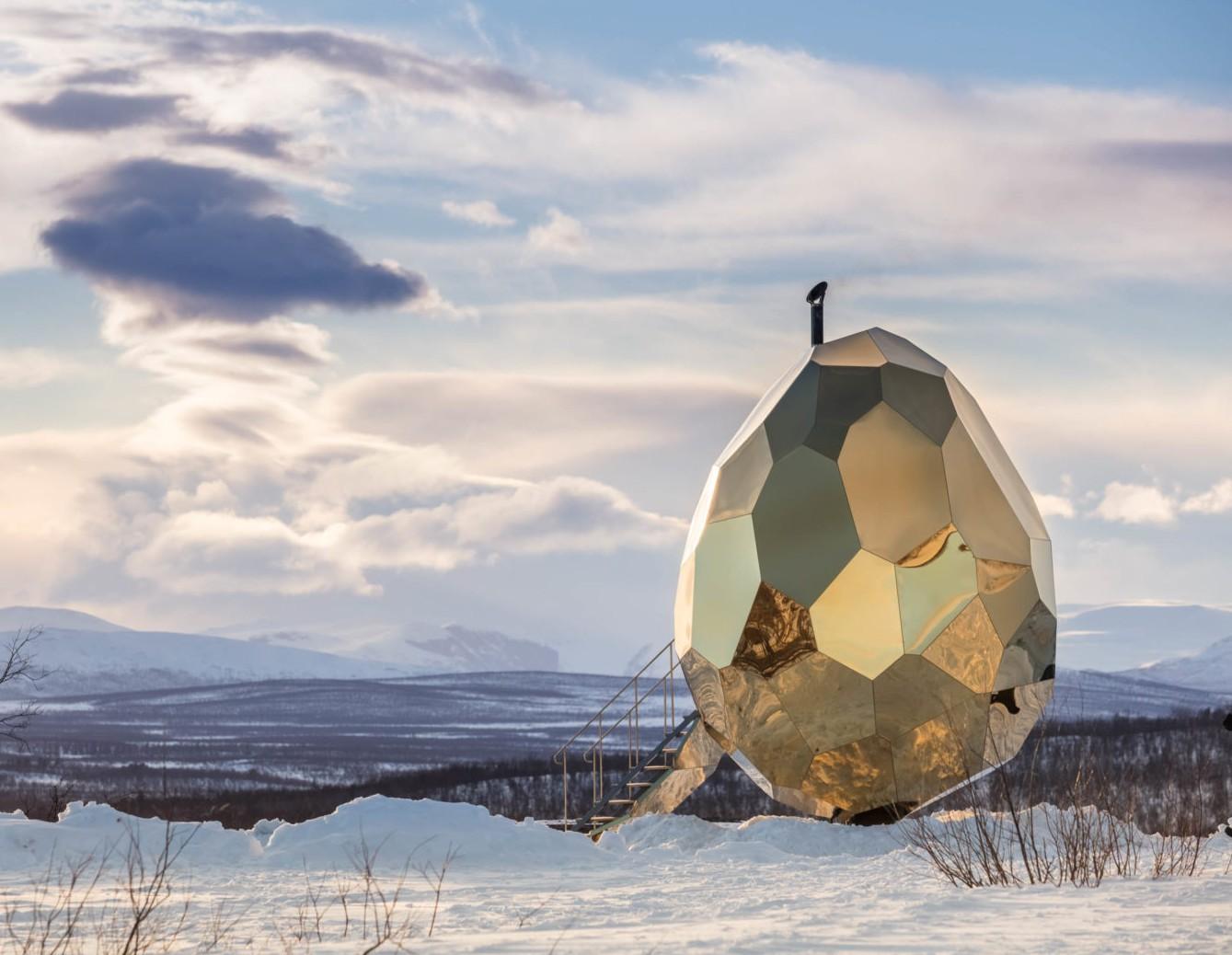 Savna v obliki jajca je skok v prihodnost in skandinavska genialnost