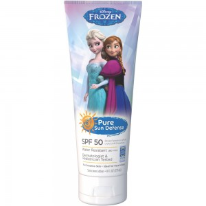 Najboljše kreme za sončenje 2017: 4. Pure Sun Defense Disney Frozen Sunscreen Lotion ZF 50