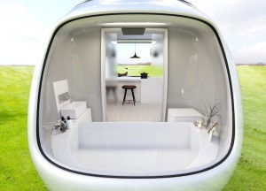 Mobilna počitniška hiška po navdihu Minija.