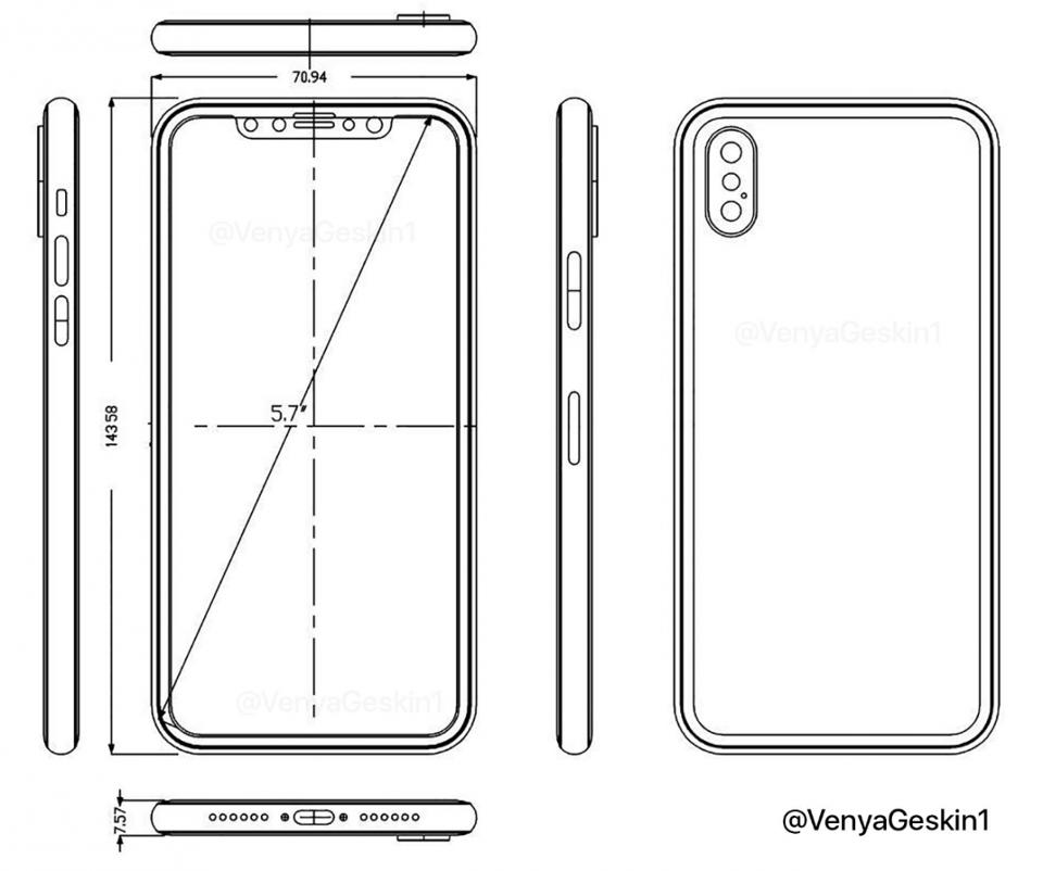 Načrt: iPhone 8