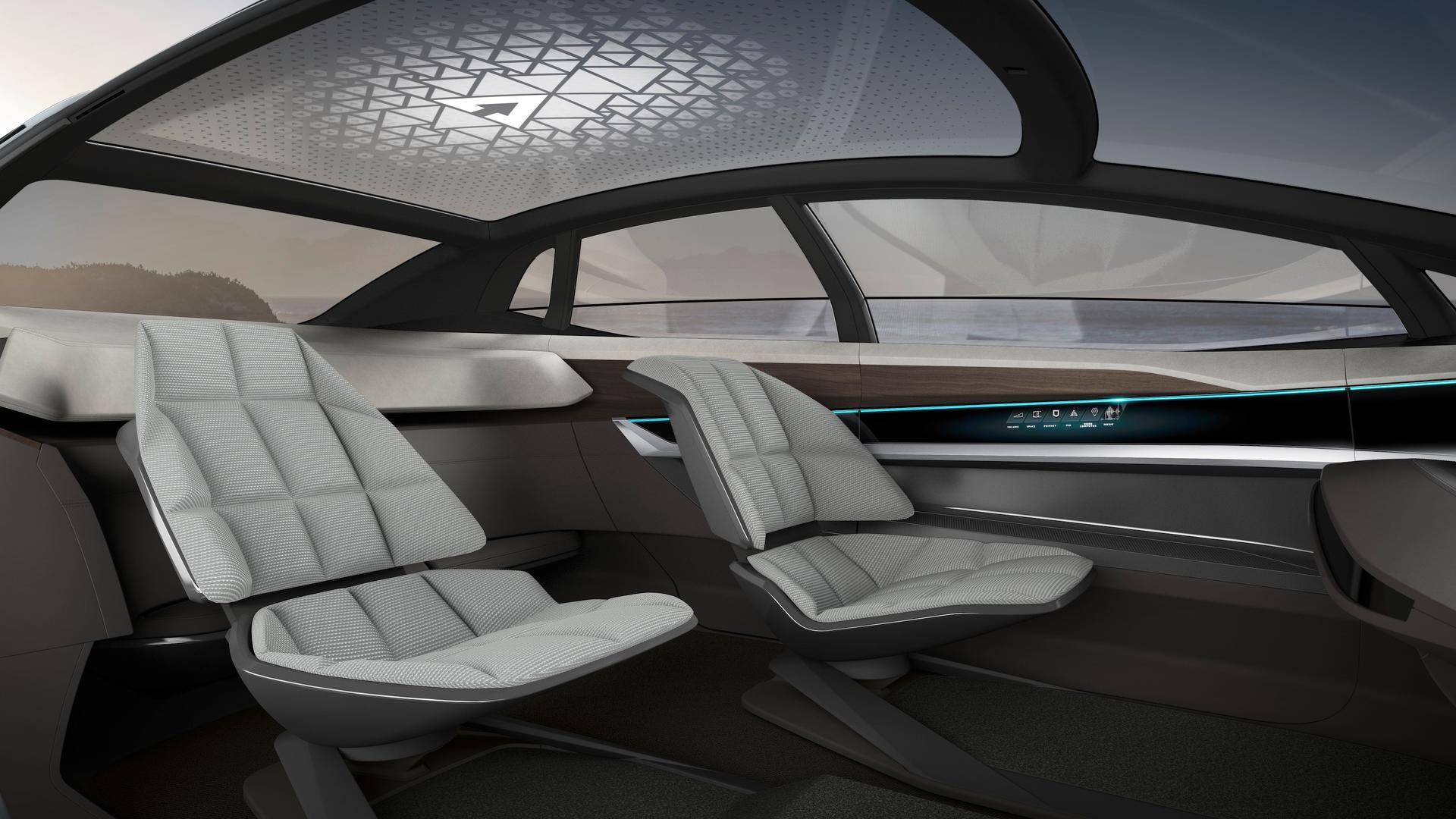 Audi Aicon - notranjost kot v letalu