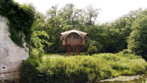 Zatočišče za pohodnike na francoskem podeželju