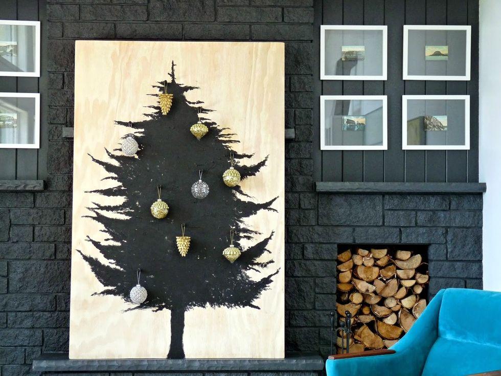 Drevesce na leseni podlagi