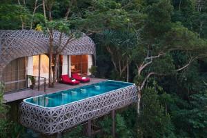 'Pleteno gnezdo' z bazenom na Tajskem