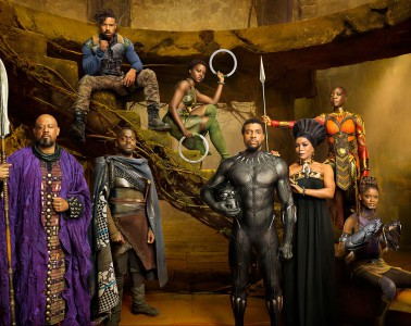 Marvel Studios' BLACK PANTHERForest Whitaker as Zuri, Daniel Kaluuya as W'Kabi, Michael B. Jordan as Erik Killmonger, Lupita Nyong'o as Nakia, Chadwick Boseman as Black Panther/T'Challa, Angela Bassett as Ramonda, Danai Gurira as Okoye, and Letitia Wright as Shuri photographed exclusively for Entertainment Weekly by Kwaku Alston on March 18, 2017 in Atlanta, Georgia.Kwaku Alston � 2017 MVLFFLLC. TM & � 2017 Marvel. All Rights Reserved.