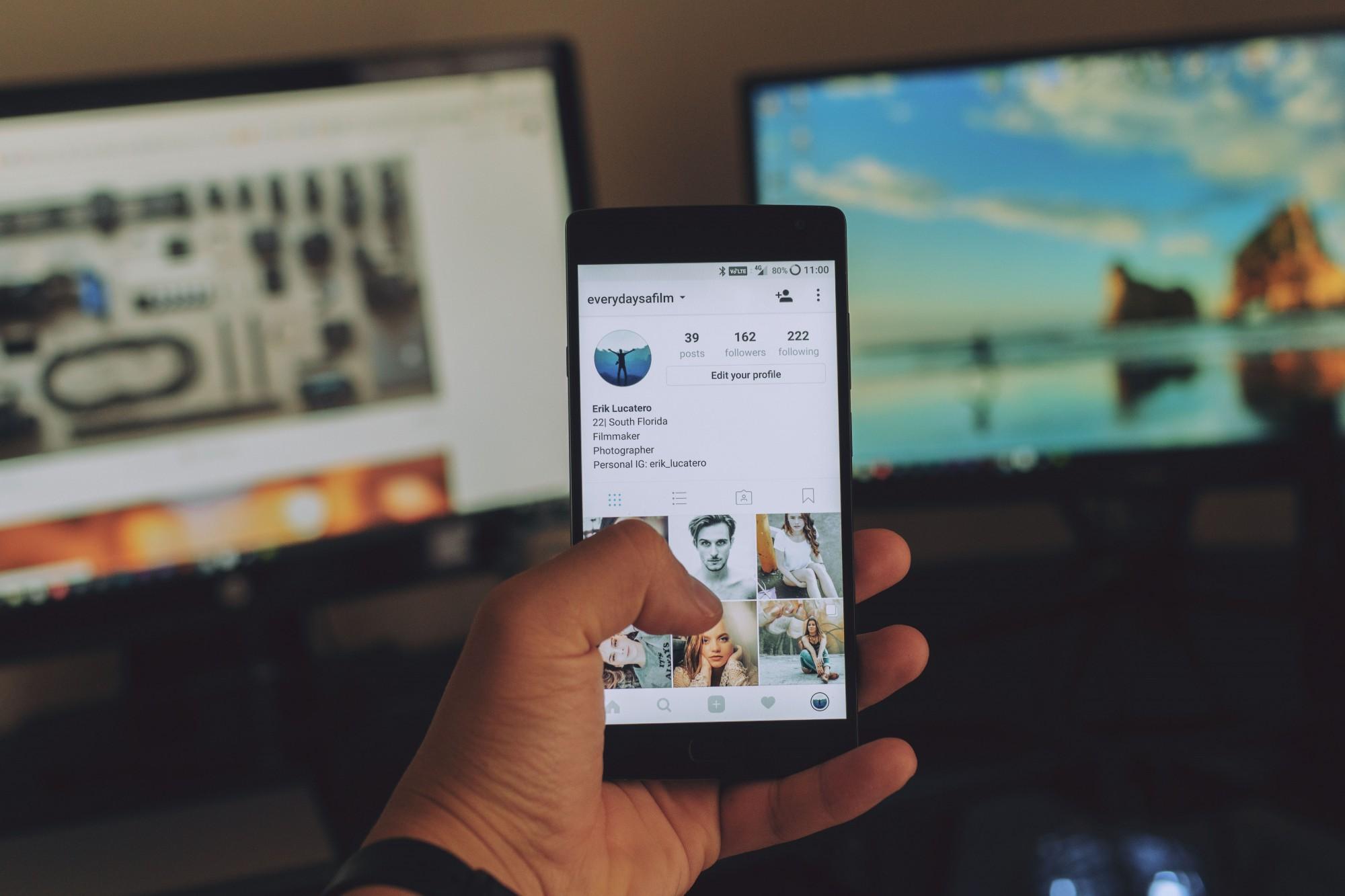Raziskovalci so se osredotočili na objavljanje slik na Instagramu.
