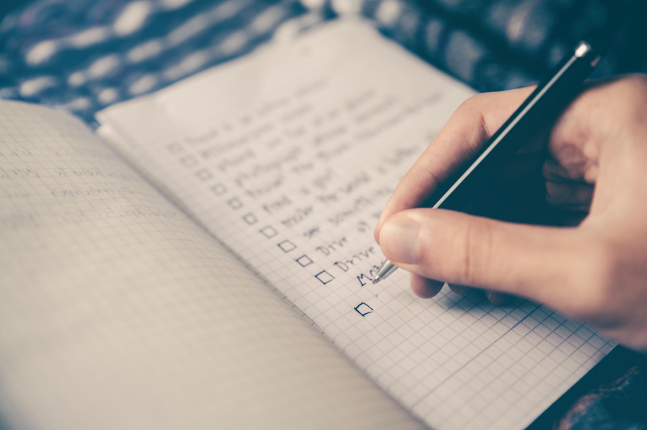 Pred spanjem napišite seznam opravil za naslednji dan.