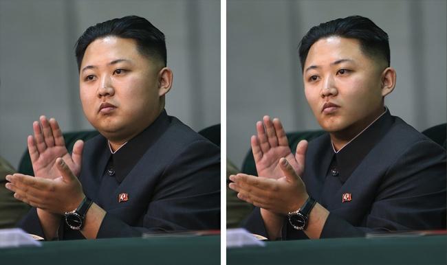 Takšen bi bil Kim Džong Un, če bi izgubil nekaj kilogramov.