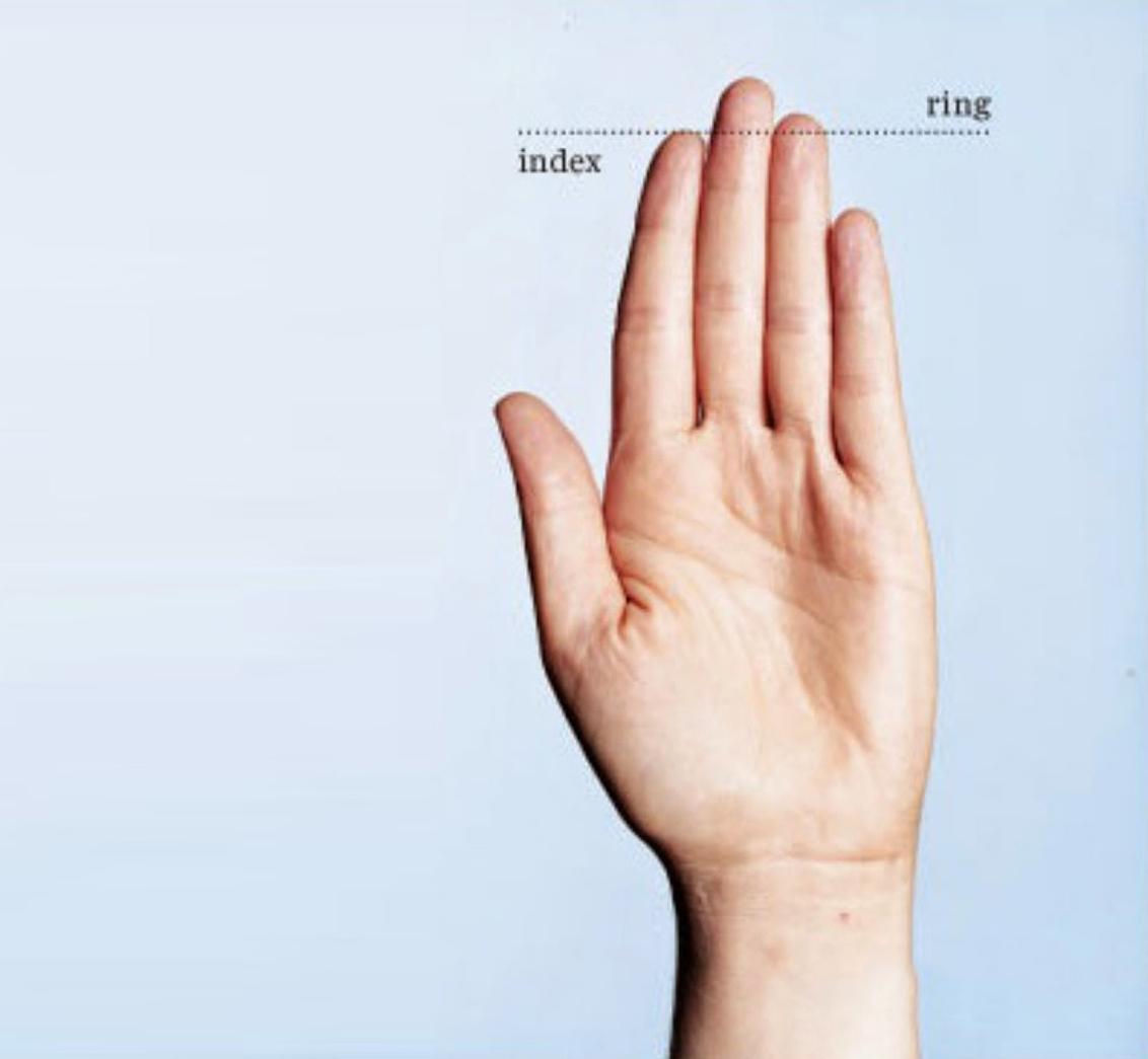 Je vaš prstanec daljši od kazalca?