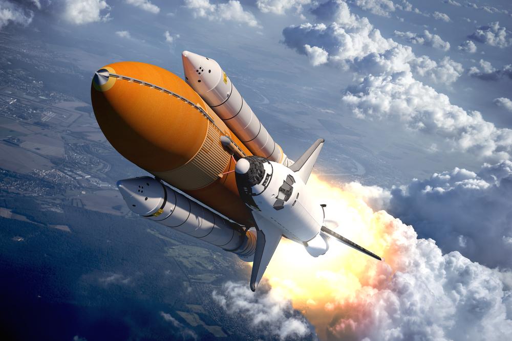 Bolha zlahka prehiti raketoplan.