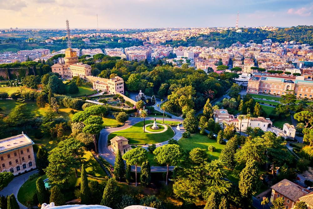 Pogled na Vatikanske vrtove