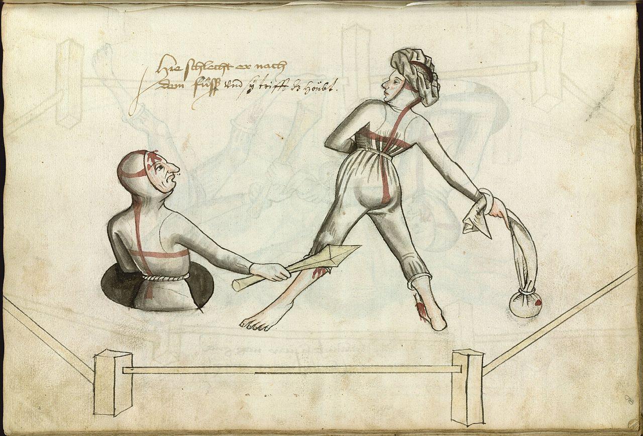 V srednjeveški Nemčiji sta mož in žena rešila spore na krut način - z dvobojem.