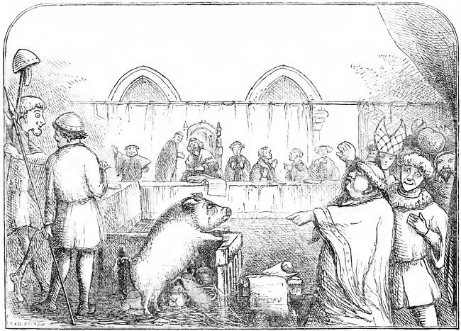 V srednjem veku niso bili samo ljudje na sodišču obravnavani, temveč tudi živali.