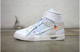 Virgil Abloh x Nike Air Jordan 1 »White« GS