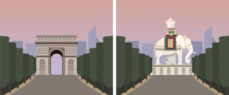 Slavolok zmage, Pariz