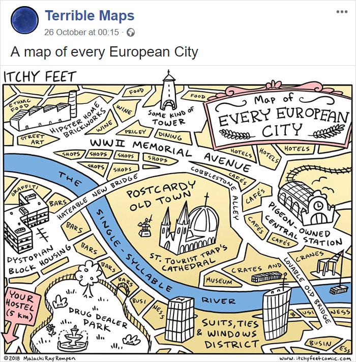 Vsako evropsko mesto.