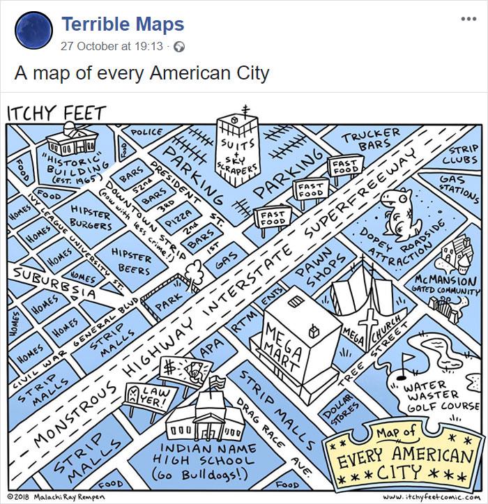 Vsako ameriško mesto.
