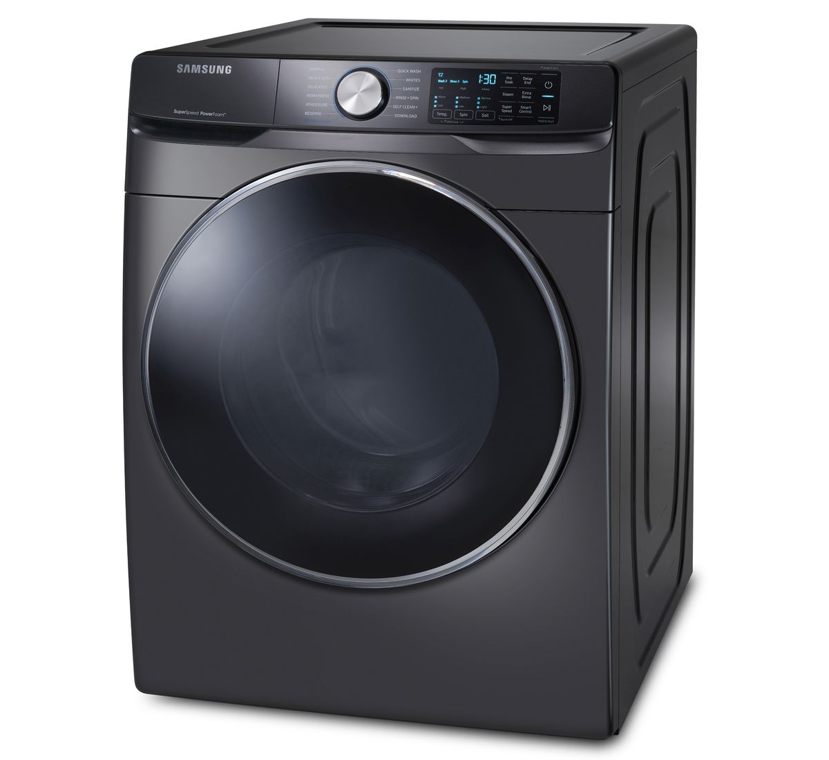 Pralni stroj Samsung, ki ima super način delovanja za hitrejše pranje perila.