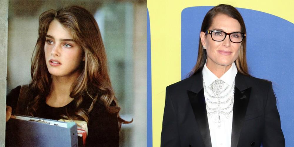 Brooke Shields v filmu Neskončna ljubezen (1981) in leta 2018, stara 53 let.