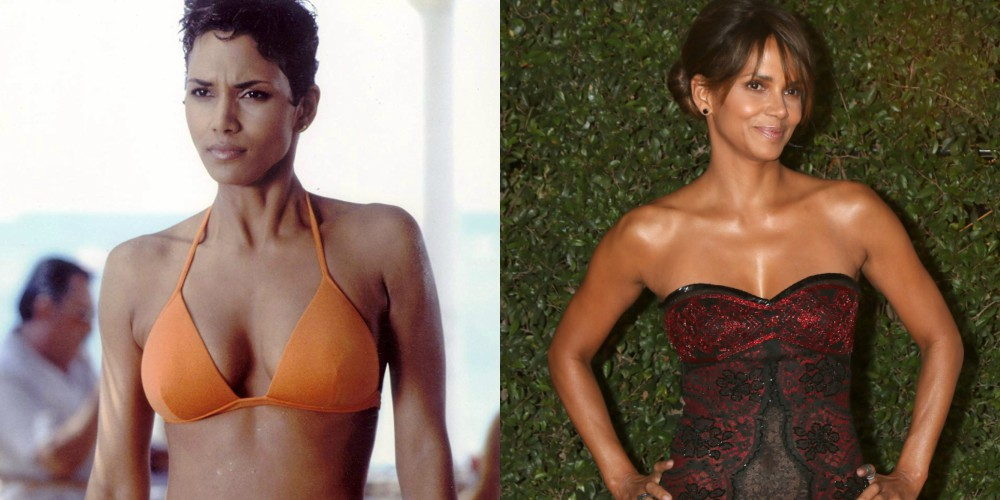 Halle Berry v filmu James Bond: Umri kdaj drugič (2002) in leta 2018, stara 52 let.