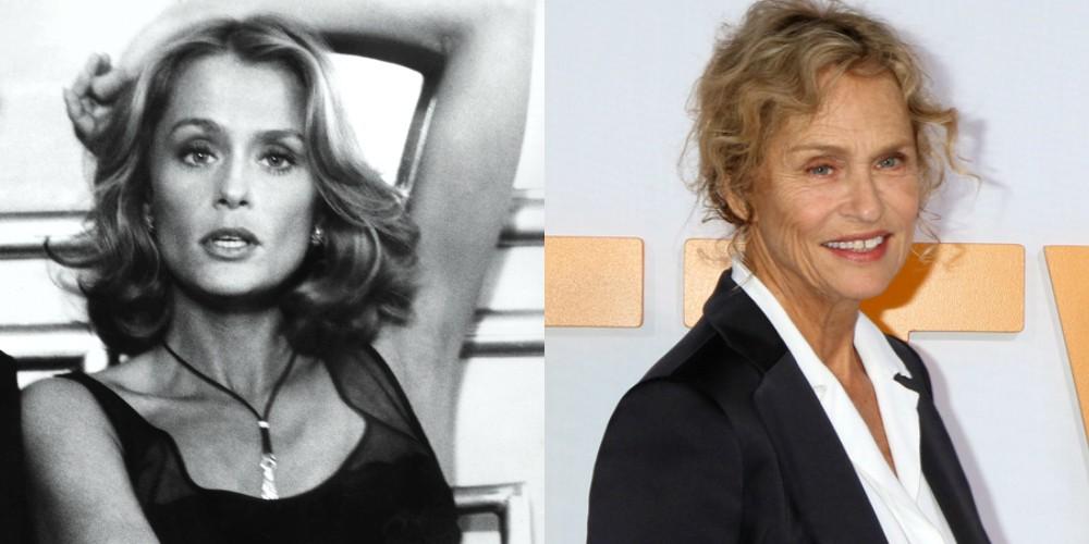 Lauren Hutton v filmu Ameriški žigolo (1980) in leta 2018, stara 75 let.